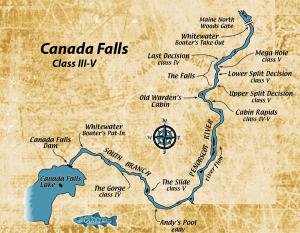 Canada Falls Rafting Map