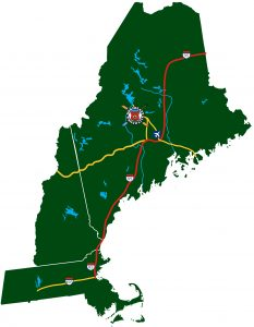 New England rafting map