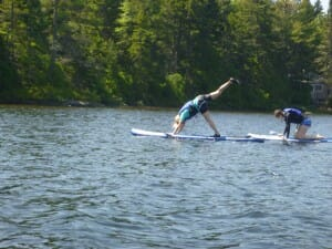 Person Doing Paddleboard Fitness in Maine