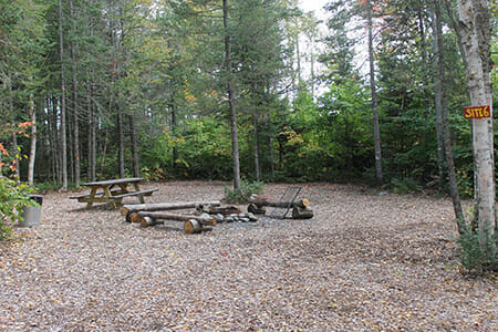 Group Yurt Campsite in Maine
