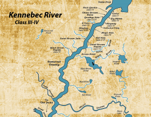 Map of the Kennebec River