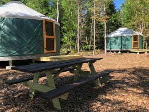 Ourside a Yurt