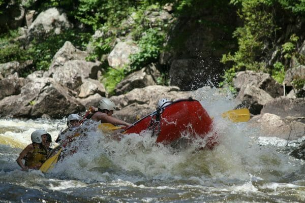 Whitewater Rafting on a River