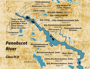 Map of the Penobscot River