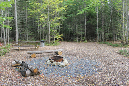 Camping Site in Maine